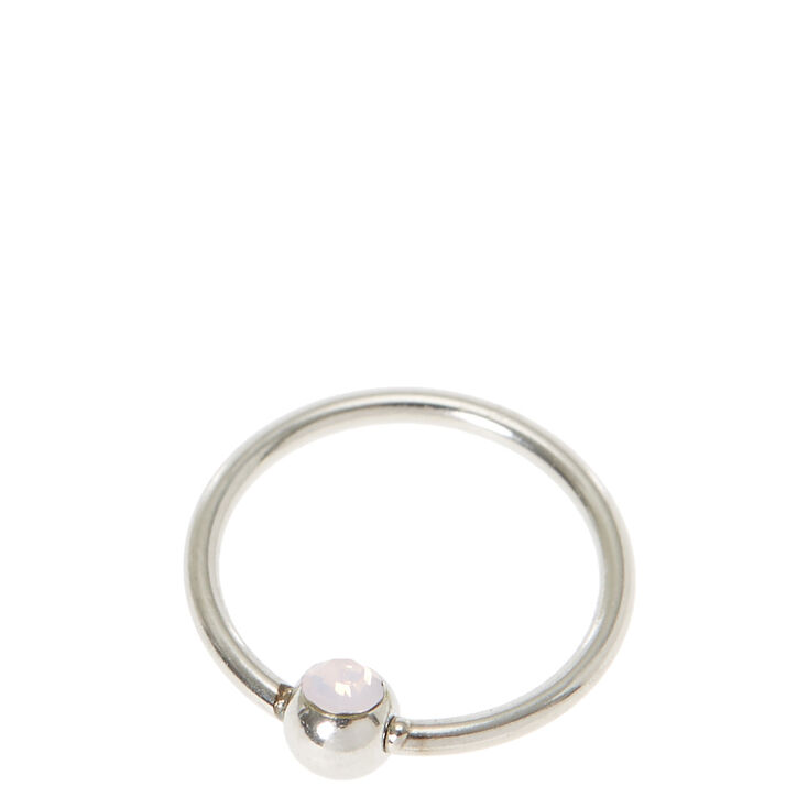 Silver Swarovski Beaded Nose Ring | Claire\'s US