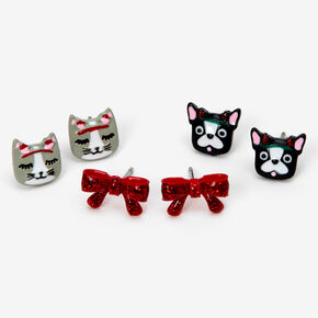 Holiday Critter Stud Earrings - 3 Pack,