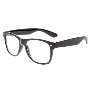 Retro Clear Lens Frames - Black,