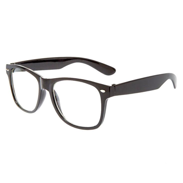 Retro Clear Lens Frames - Black,