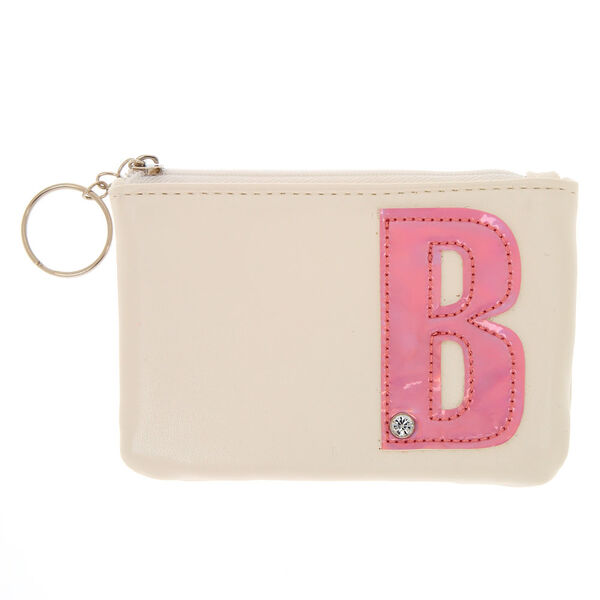 Claire's - faux leather pink initial b coin purse - 1