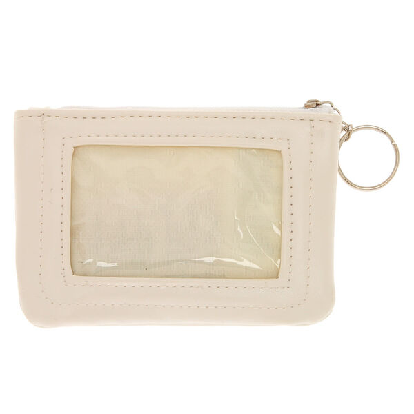 Claire's - faux leather pink initial b coin purse - 2