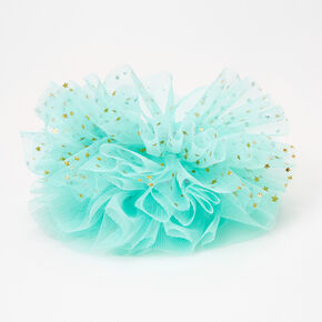 Claire's Club Small Tulle Hair Scrunchies - Mint, 2 Pack,