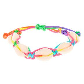 be3fdb77a Rainbow Puka Shell Adjustable Bracelet