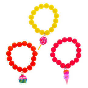 Claire's Club Sweet Treat Neon Bracelets - 3 Pack,