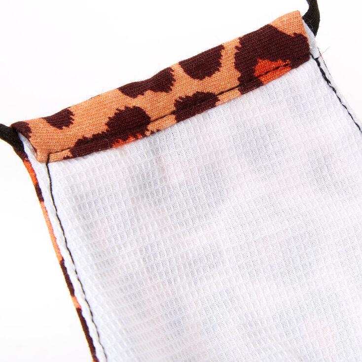 Cotton Leopard Print Face Mask - Adult,