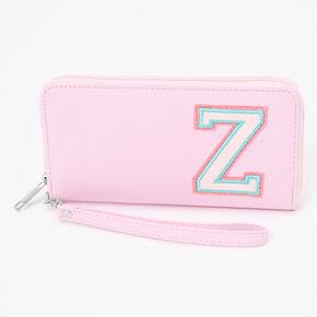 Pink Varsity Initial Wristlet - Z,