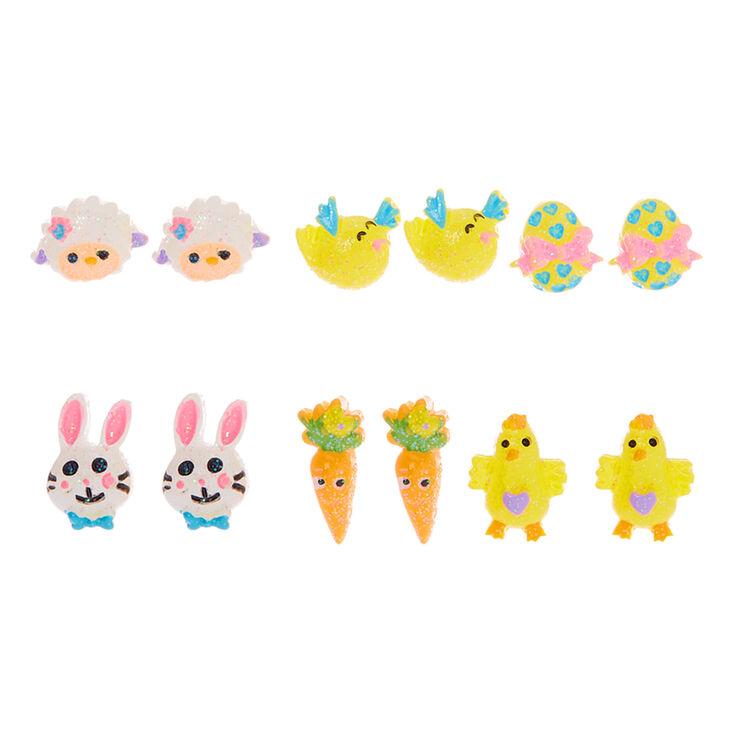 Easter Stud Earrings - 6 Pack,
