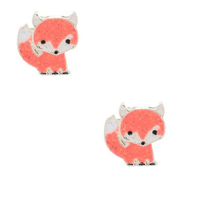 Fox Glitter Stud Earrings,