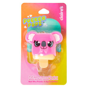Pucker Pops Pink Koala Lip Gloss - Fruit Punch,
