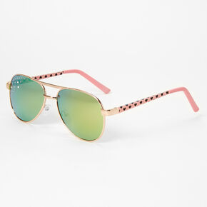 Claire's Club Ombre Heart Sunglasses - Pink,