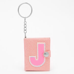 Initial Mini Journal Keychain - J,