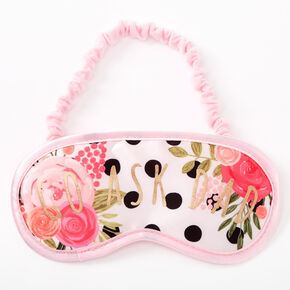 Go Ask Dad Floral Polka Dot Sleeping Mask - Pink,