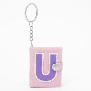 Initial Mini Journal Keychain - U,
