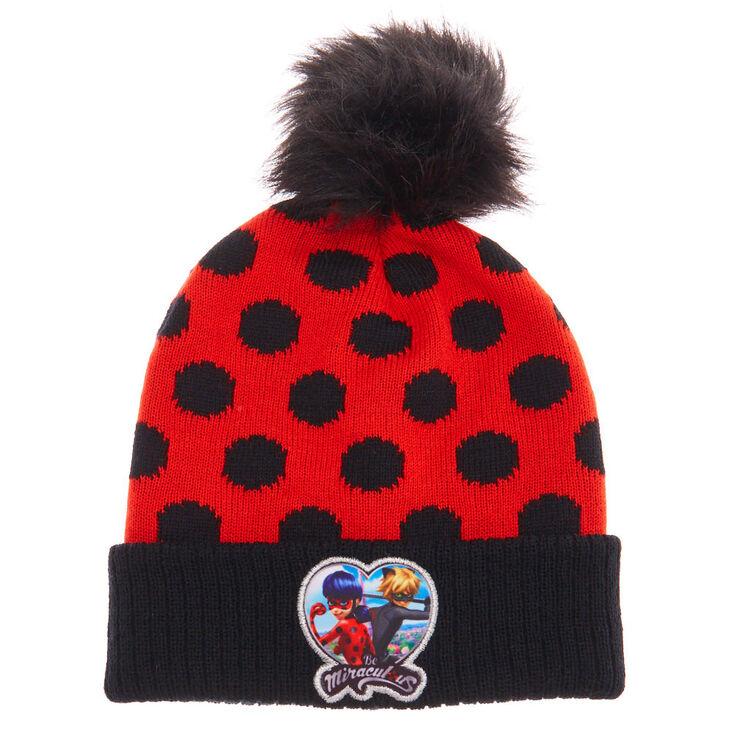 Bonnet à pompon rouge et noir à pois Miraculous™   Claire s FR 02f60ef04a8