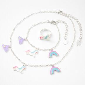 Claire's Club Unicorns and Rainbows Jewelry Set - 3 Pack,