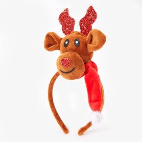 Reindeer Soft Headband - Brown,