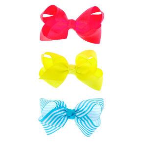 Claire's Club Ribbon Hair Bows - 3 Pack,