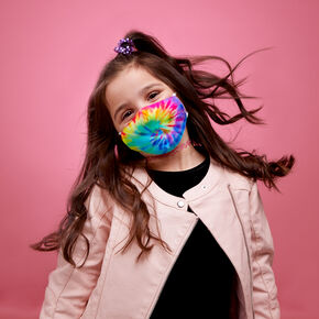 Cotton Rainbow Tie Dye Face Mask - Child Small,