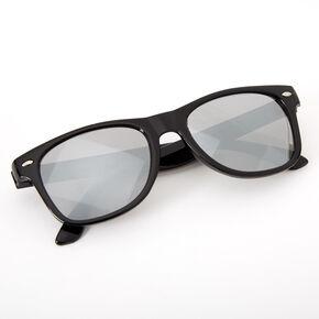 Claire's Club Retro Mirrored Sunglasses - Black,