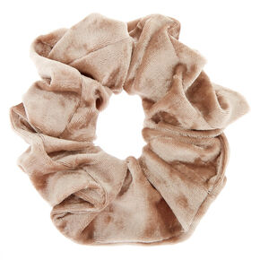 Medium Velvet Hair Scrunchie - Champagne,