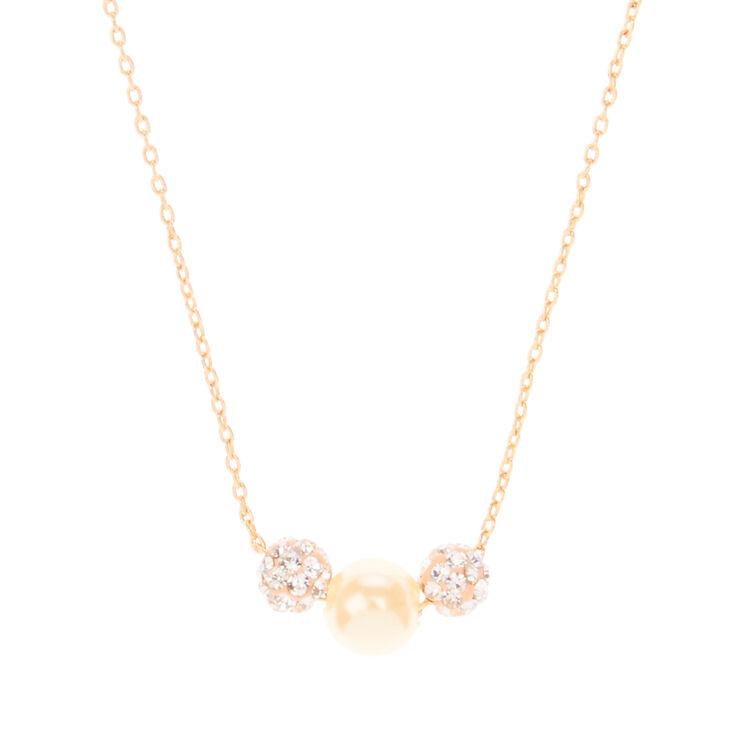 Collier à perles d'imitation champagne,