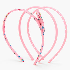 Claire's Club Spring Floral Headbands - Pink, 3 Pack,