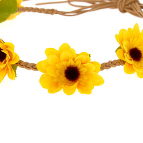 Sunflower Crown Headwrap - Yellow,