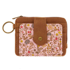 Ditsy Floral Coin Purse - Brown,