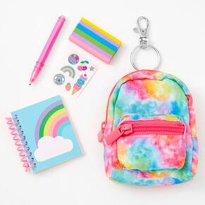 Tie-Dye 4'' Backpack Stationery Set - Rainbow,