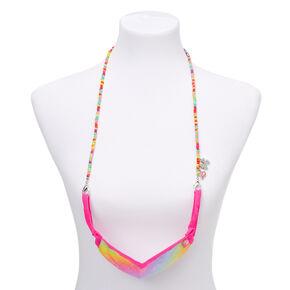 JoJo Siwa™ Rainbow Beaded Cloth Face Mask Lanyard,