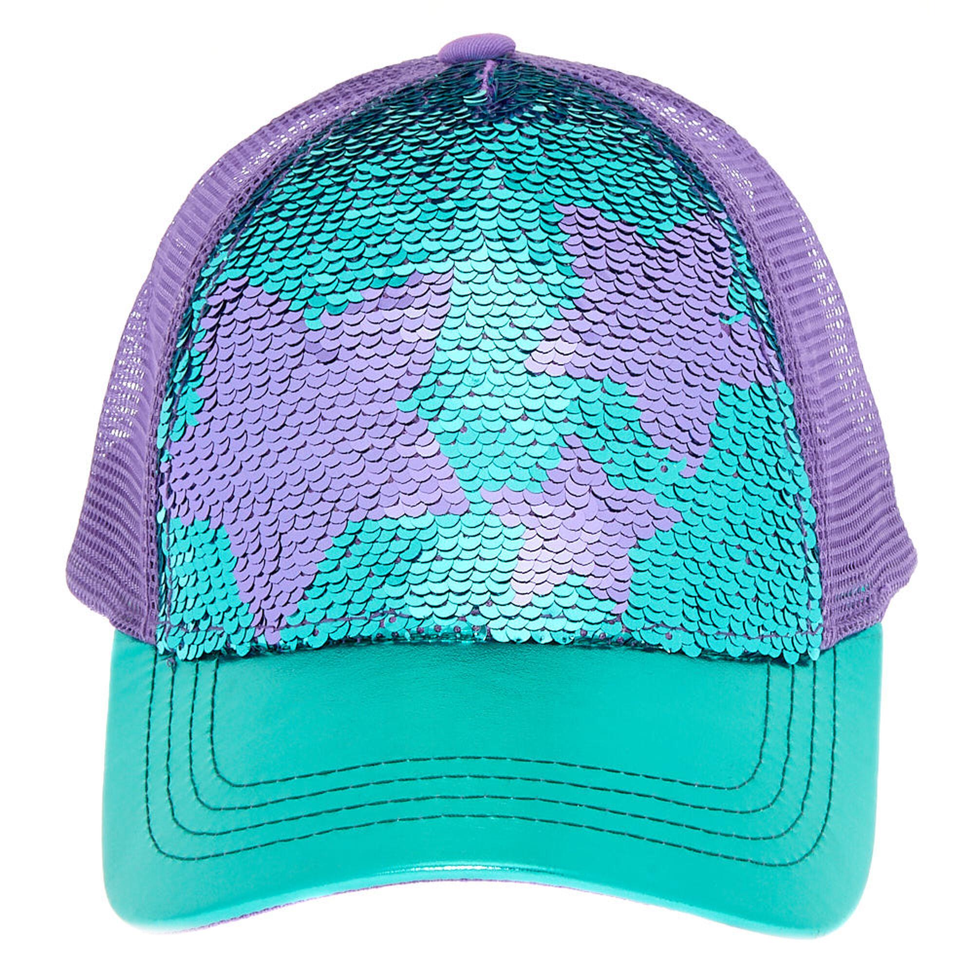 ... Star Sequin Baseball Cap - Turquoise 77da57d0fd0f