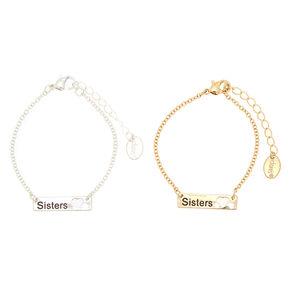 Best Friends Mixed Metal Sisters Statement Bracelets 2 Pack