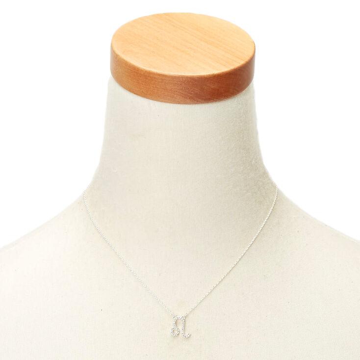 Silver Zodiac Pendant Necklace - Leo,