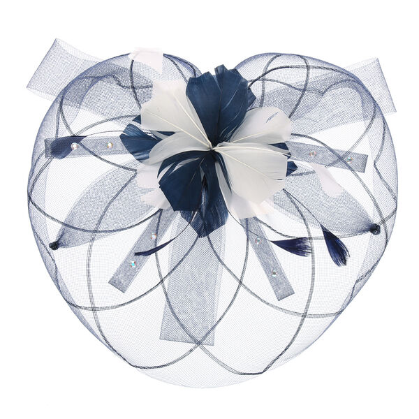 Claire's - and cream mesh veil hair fascinator - 2
