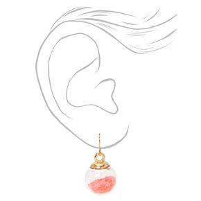 Gold 1'' Star Shaker Drop Earrings - Coral,