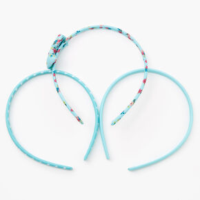 Claire's Club Spring Floral Headbands - Mint, 3 Pack,
