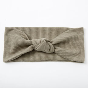 Ribbed Knotted Headwrap - Sage,