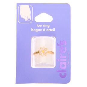Gold Dainty Daisy Toe Ring,