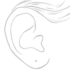 Clous d'oreille ronds 2mm en zircon cubique d'imitation en argent,