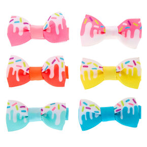 Claire's Club Sprinkles Hair Bow Clips - 6 Pack,