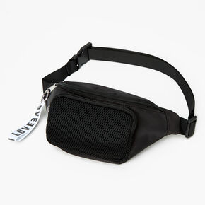 Solid Color Bum Bag - Black,