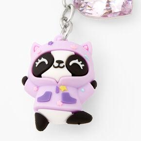 Silicone Panda Keyring - Pink,