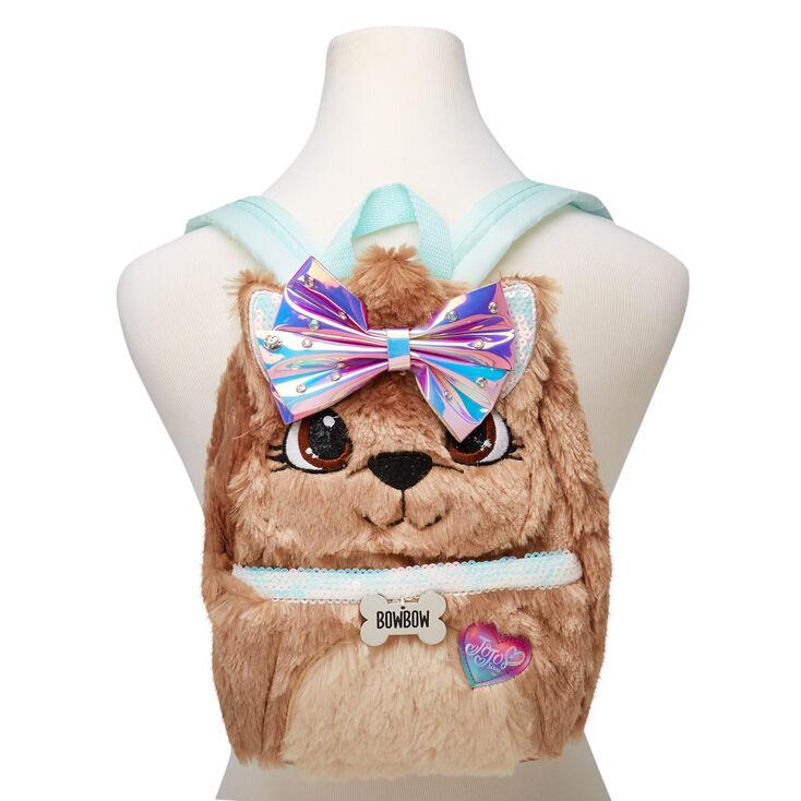 JoJo Siwa™ BowBow Plush Medium Backpack – Brown,