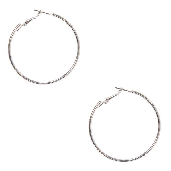 Claire's - 50mm hoop earrings - 1