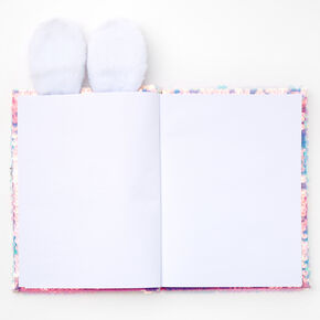 Sequin Bunny Sketchbook - Pink,