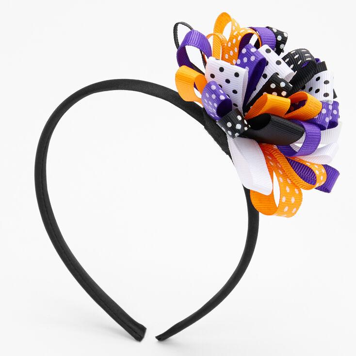 Halloween Ribbon Bow Headband,