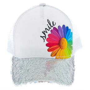 08aab69ad39 Daisy Smile Trucker Hat - White