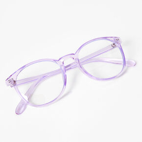 Solar Blue Light Reducing Round Clear Lens Frames - Violet,