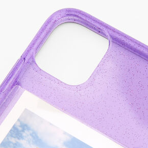 Lavender Glitter Instax Mini Pocket Protective Phone Case - Fits iPhone 11,